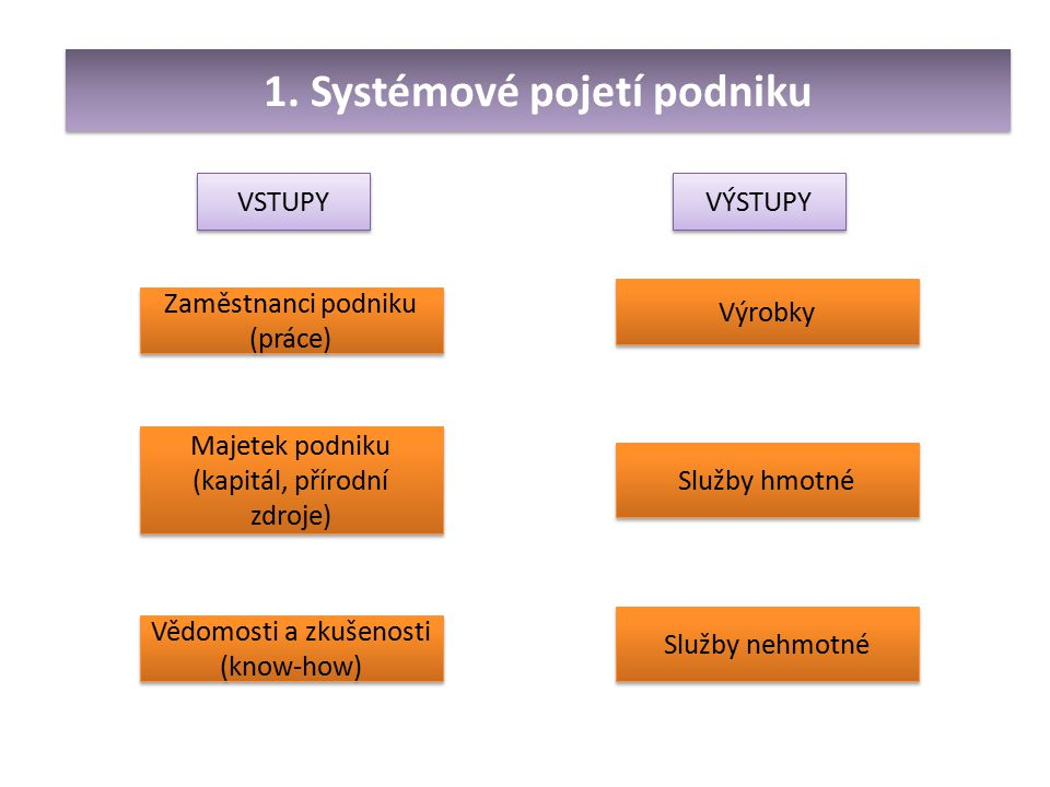 1. Systémové pojetí podniku