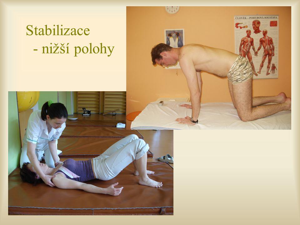 Stabilizace - nižší polohy
