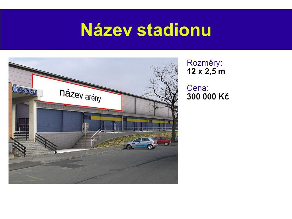 Název stadionu Rozměry: 12 x 2,5 m Cena: 300 000 Kč 6 6 6