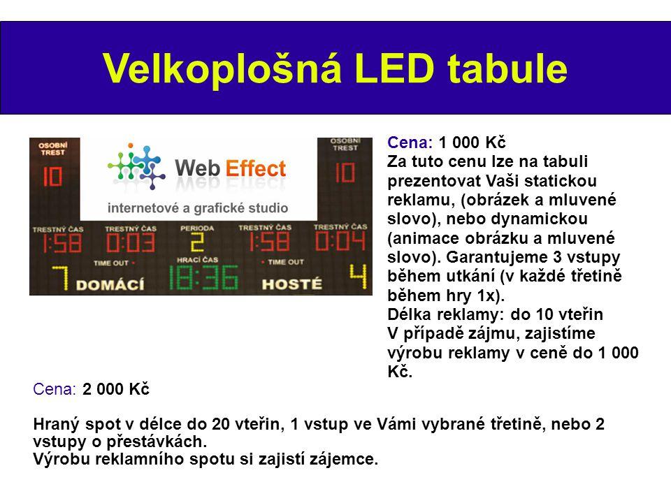 Velkoplošná LED tabule