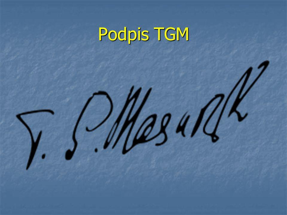 Podpis TGM