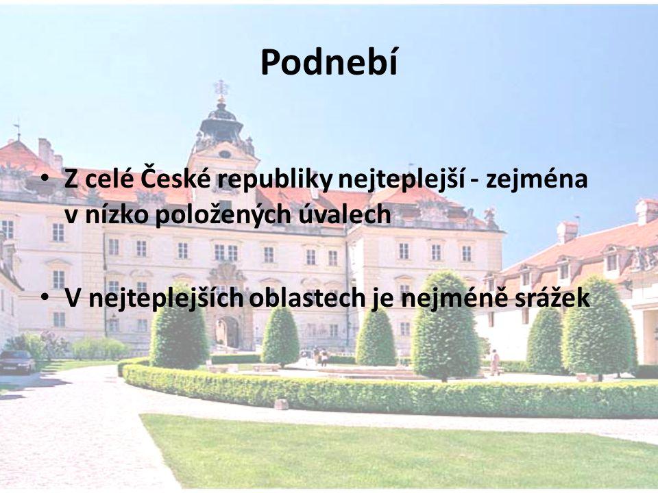 Podnebí Z celé České republiky nejteplejší - zejména v nízko položených úvalech.