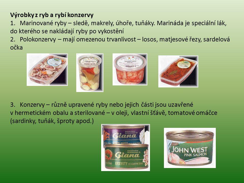 Výrobky z ryb a rybí konzervy