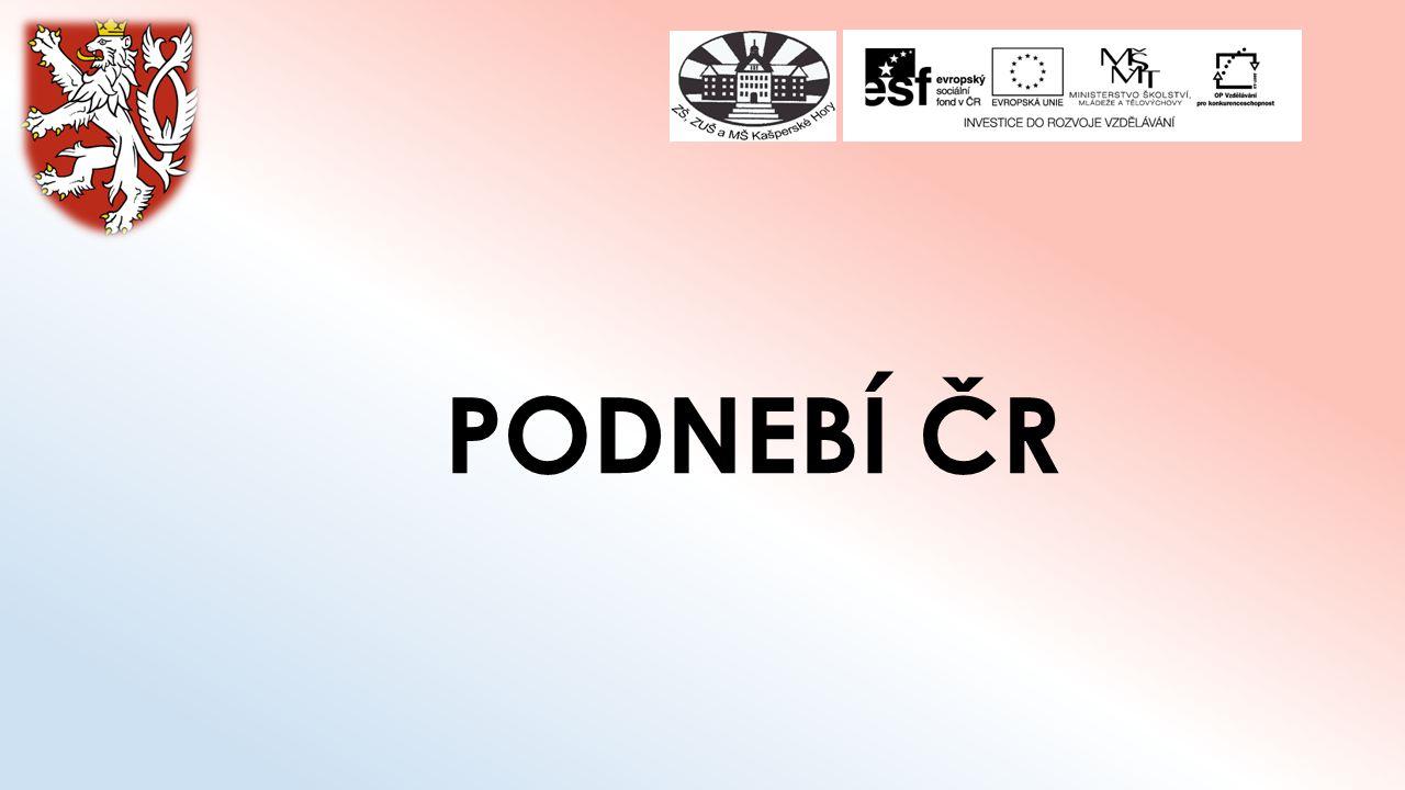 PODNEBÍ ČR