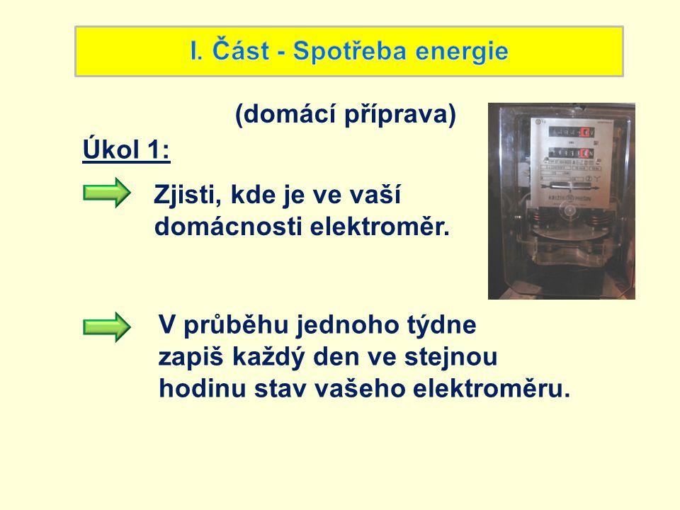 I. Část - Spotřeba energie