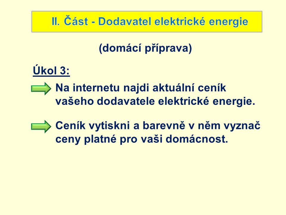 II. Část - Dodavatel elektrické energie