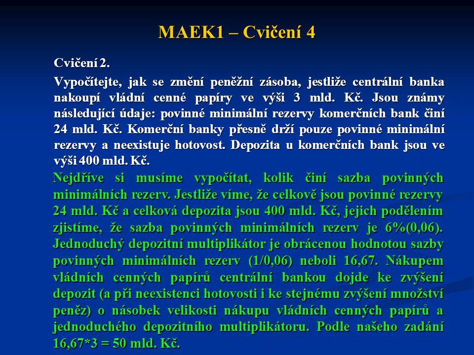MAEK1 – Cvičení 4