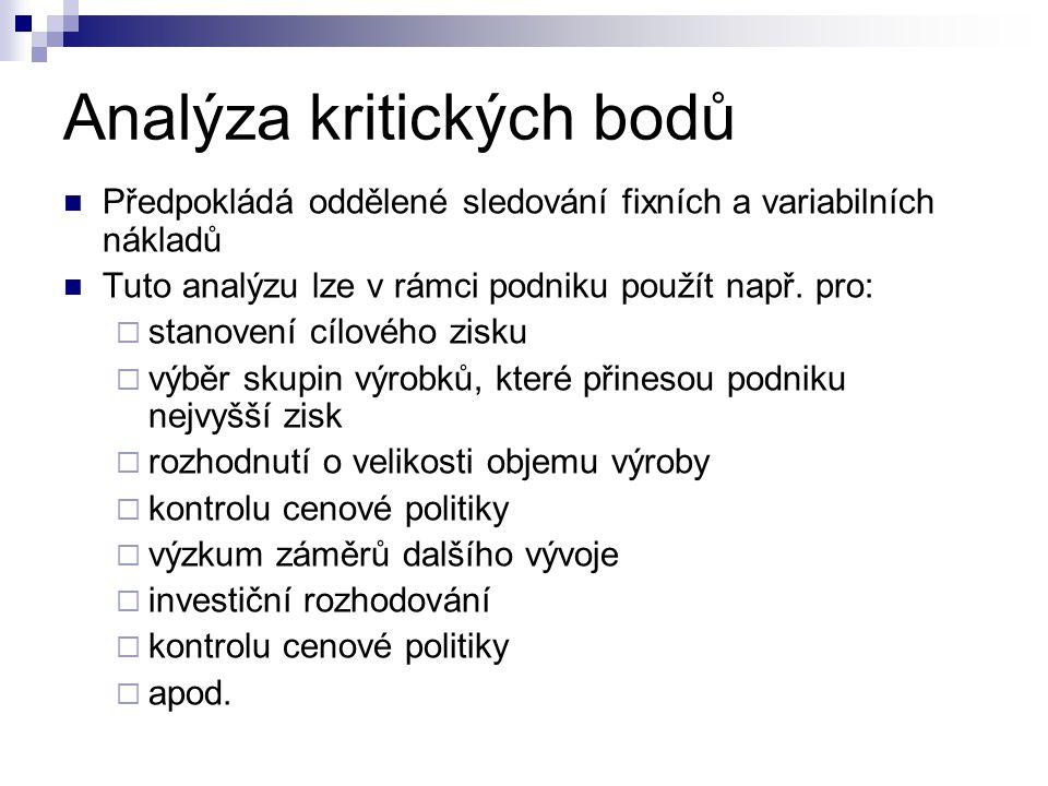 Analýza kritických bodů