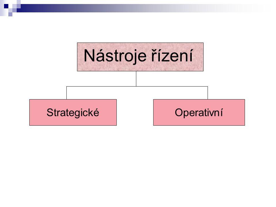 Nástroje řízení Strategické Operativní