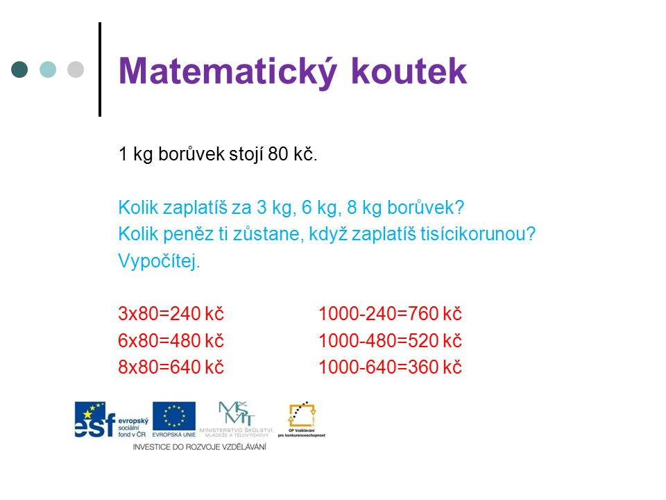 Matematický koutek