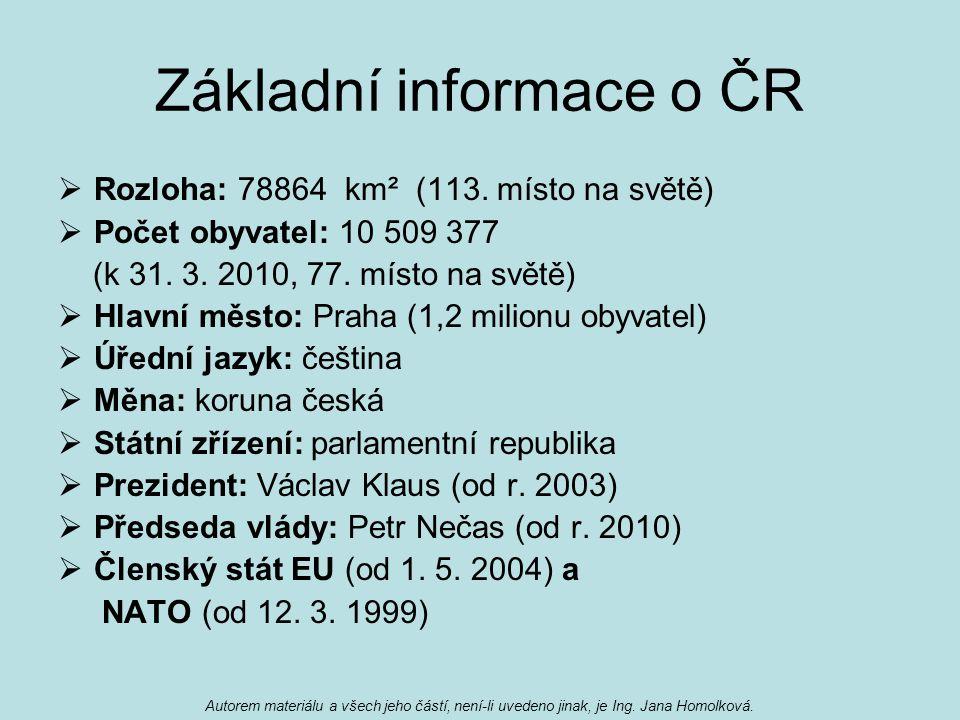 Základní informace o ČR