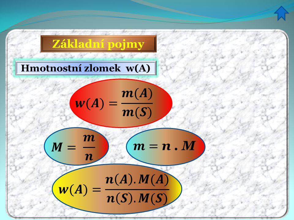 Hmotnostní zlomek w(A)