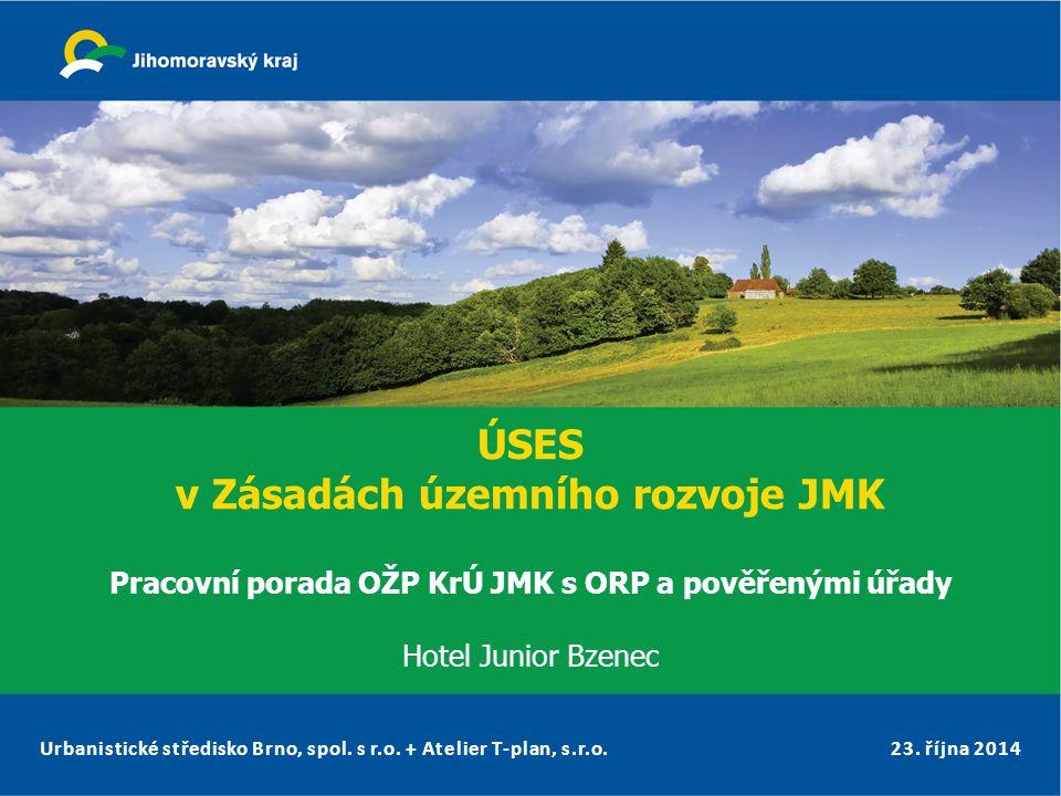 ÚSES v Zásadách územního rozvoje JMK