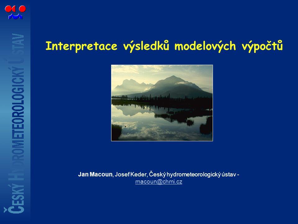 Interpretace výsledků modelových výpočtů