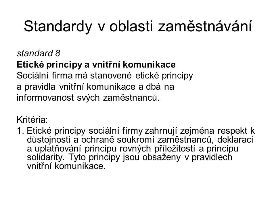 Standardy v oblasti zaměstnávání