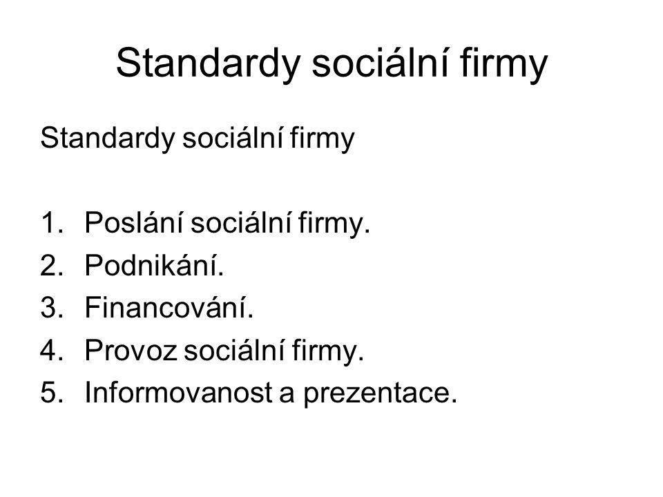 Standardy sociální firmy