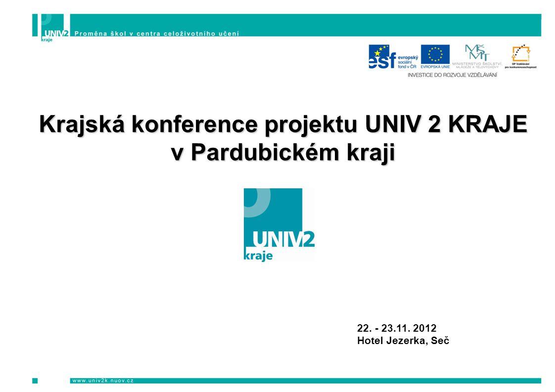 Krajská konference projektu UNIV 2 KRAJE v Pardubickém kraji