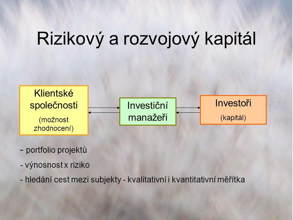 Rizikový a rozvojový kapitál