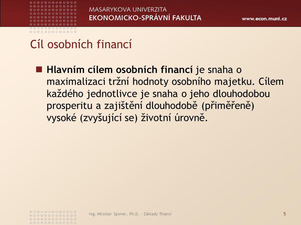 Cíl osobních financí