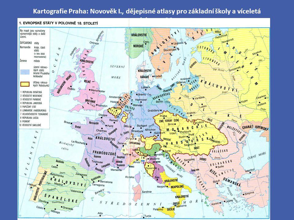 Kartografie Praha: Novověk I