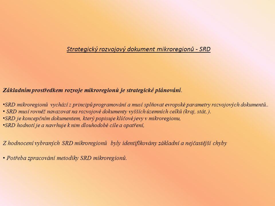 Strategický rozvojový dokument mikroregionů - SRD