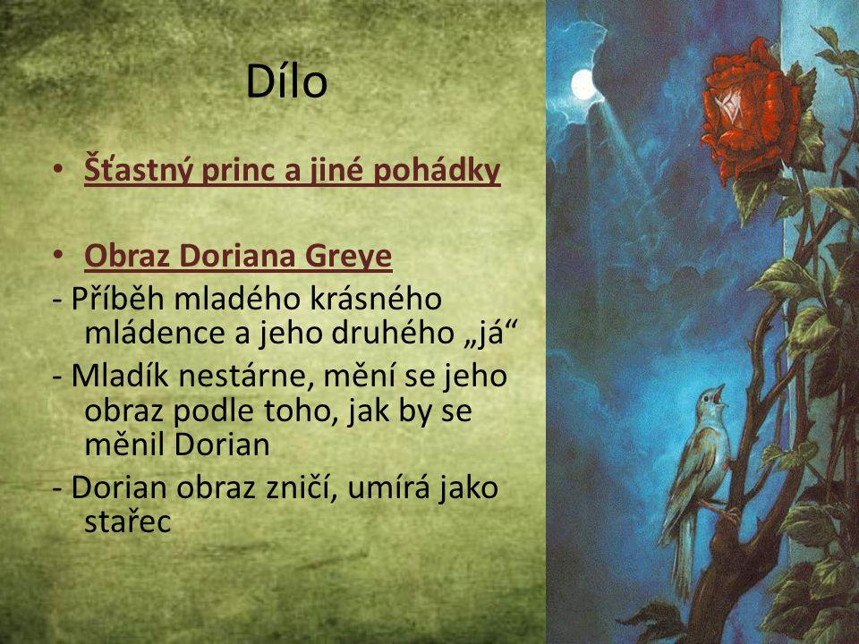 Dílo Šťastný princ a jiné pohádky Obraz Doriana Greye