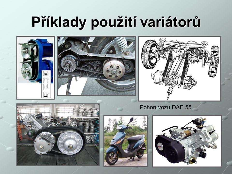 Příklady použití variátorů