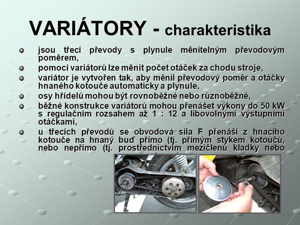 VARIÁTORY - charakteristika