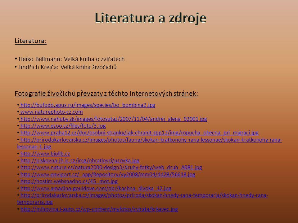 Literatura a zdroje Literatura: