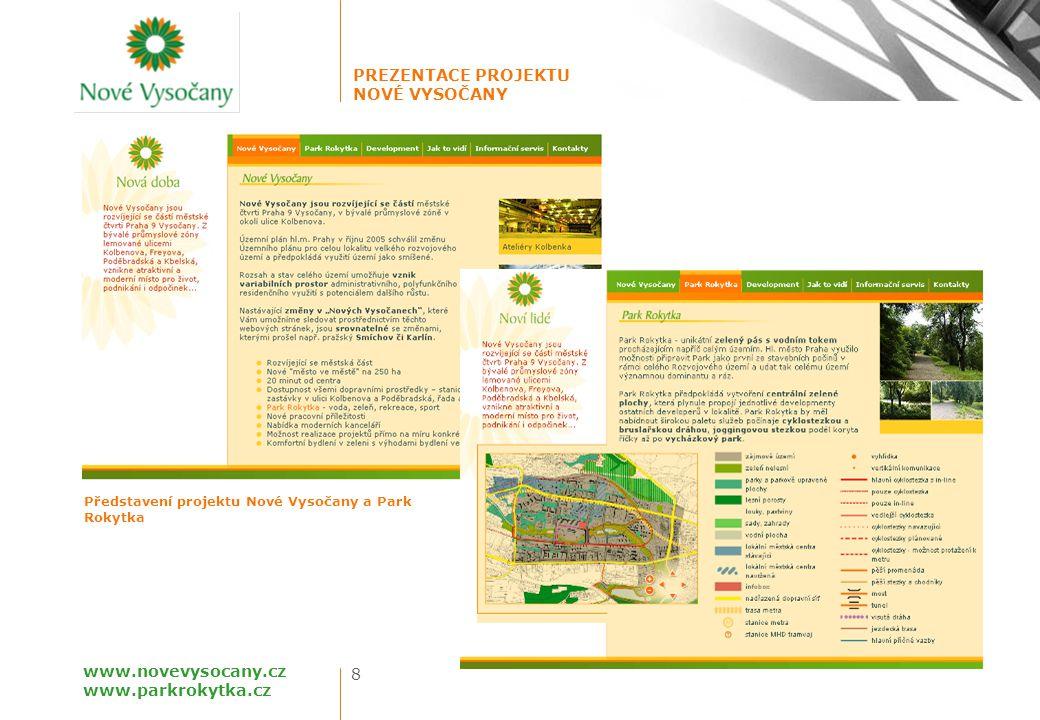 Představení projektu Nové Vysočany a Park Rokytka