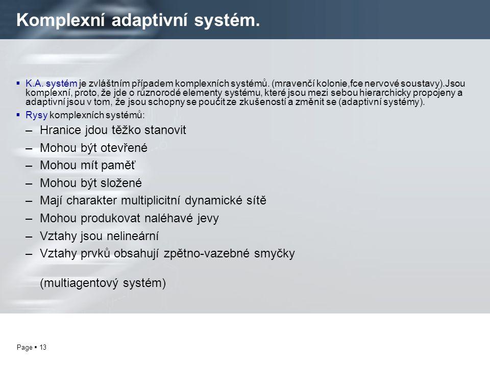 Komplexní adaptivní systém.