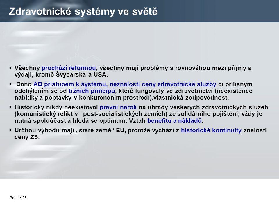 Zdravotnické systémy ve světě