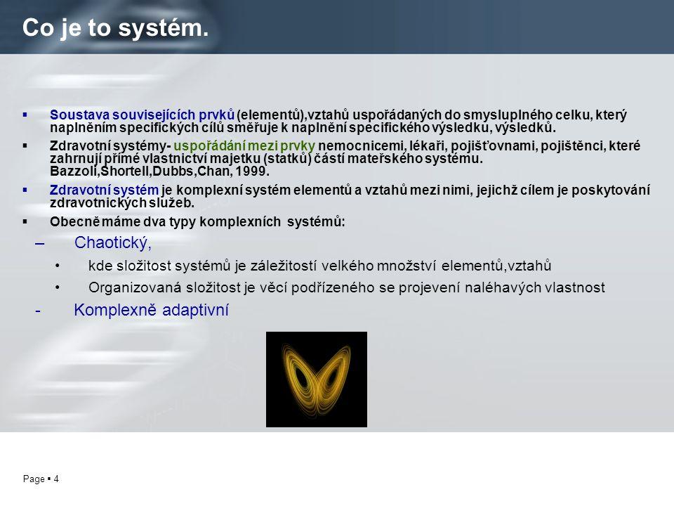 Co je to systém. Chaotický, - Komplexně adaptivní