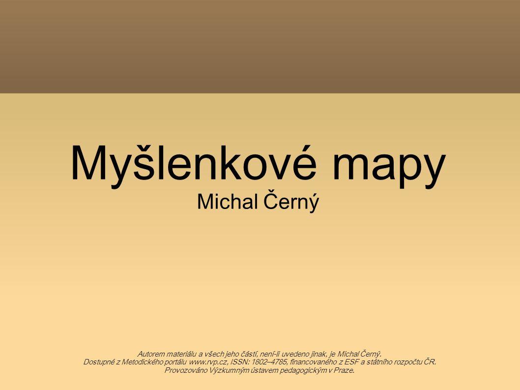Myšlenkové mapy Michal Černý