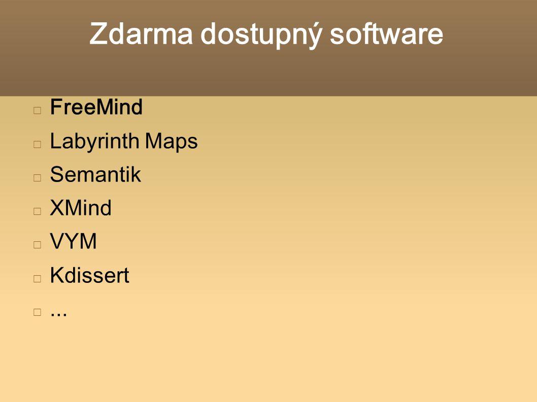 Zdarma dostupný software