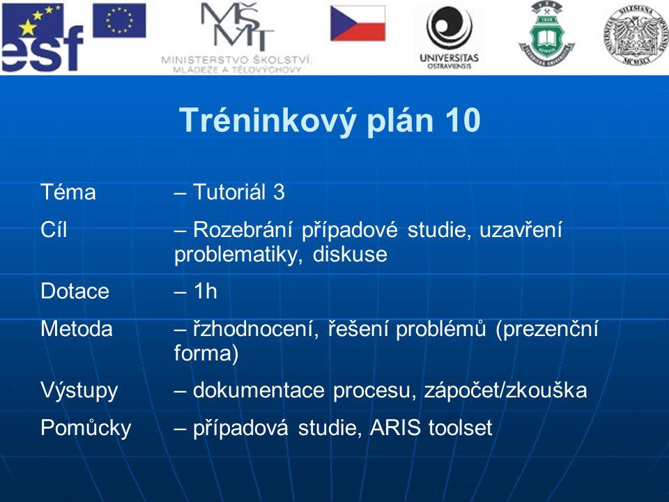Tréninkový plán 10 Téma – Tutoriál 3