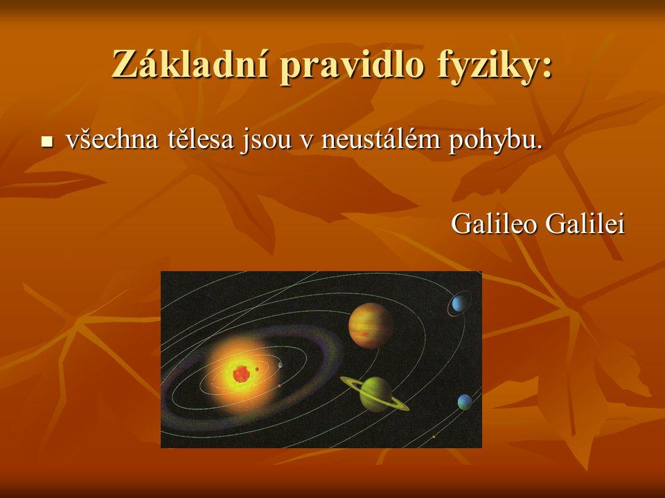 Základní pravidlo fyziky: