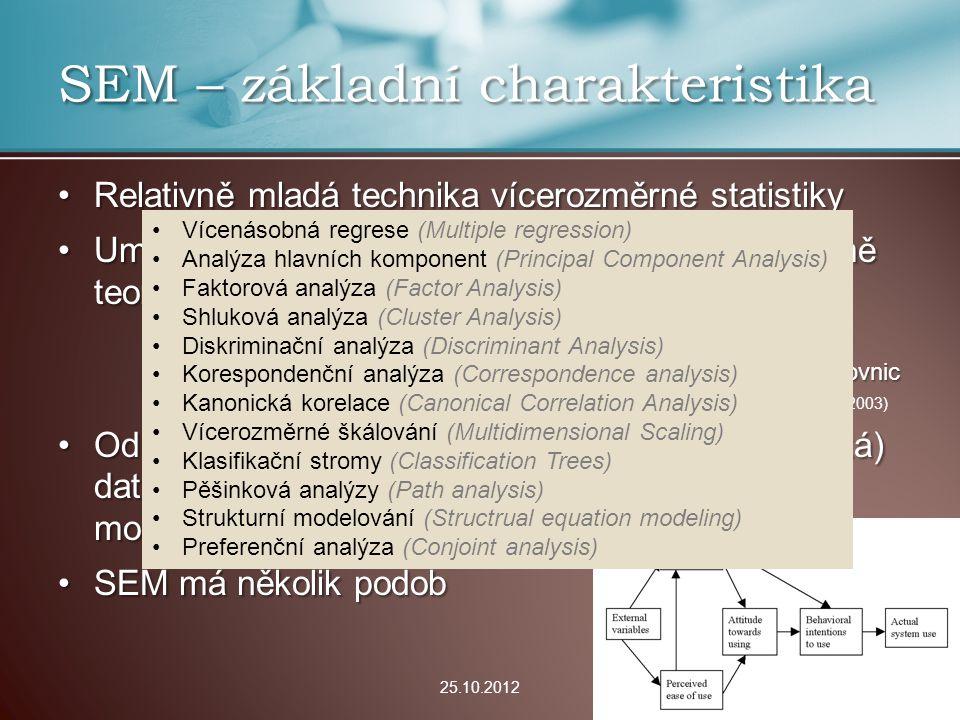 SEM – základní charakteristika