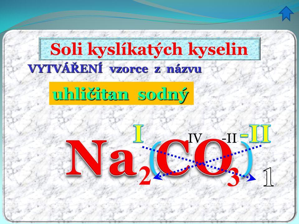 Soli kyslíkatých kyselin