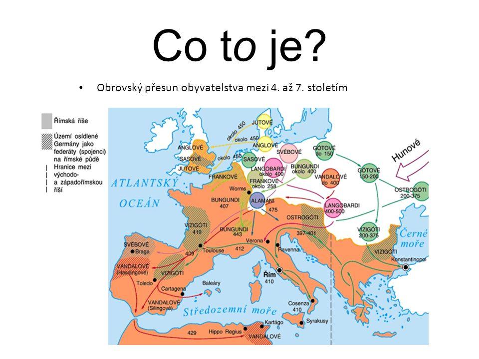 Obrovský přesun obyvatelstva mezi 4. až 7. stoletím