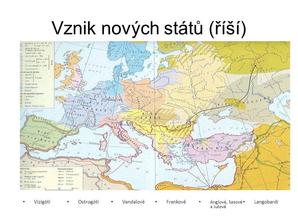 Vznik nových států (říší)