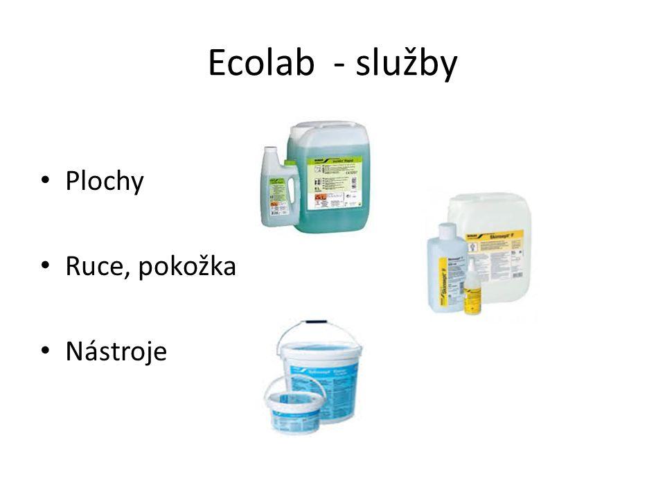 Ecolab - služby Plochy Ruce, pokožka Nástroje