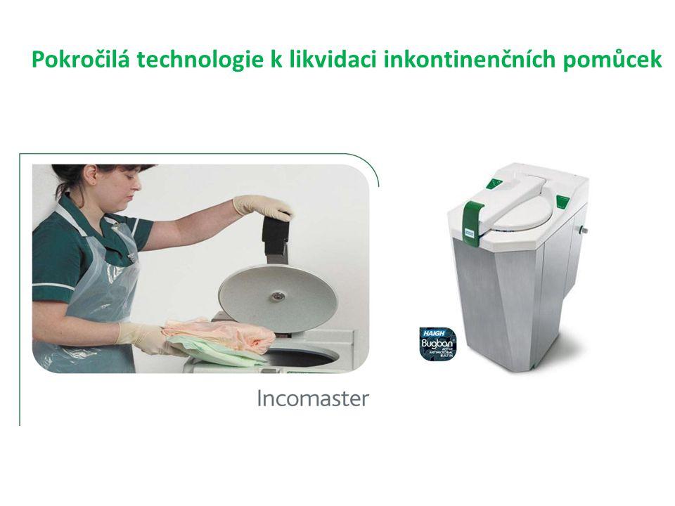 Pokročilá technologie k likvidaci inkontinenčních pomůcek