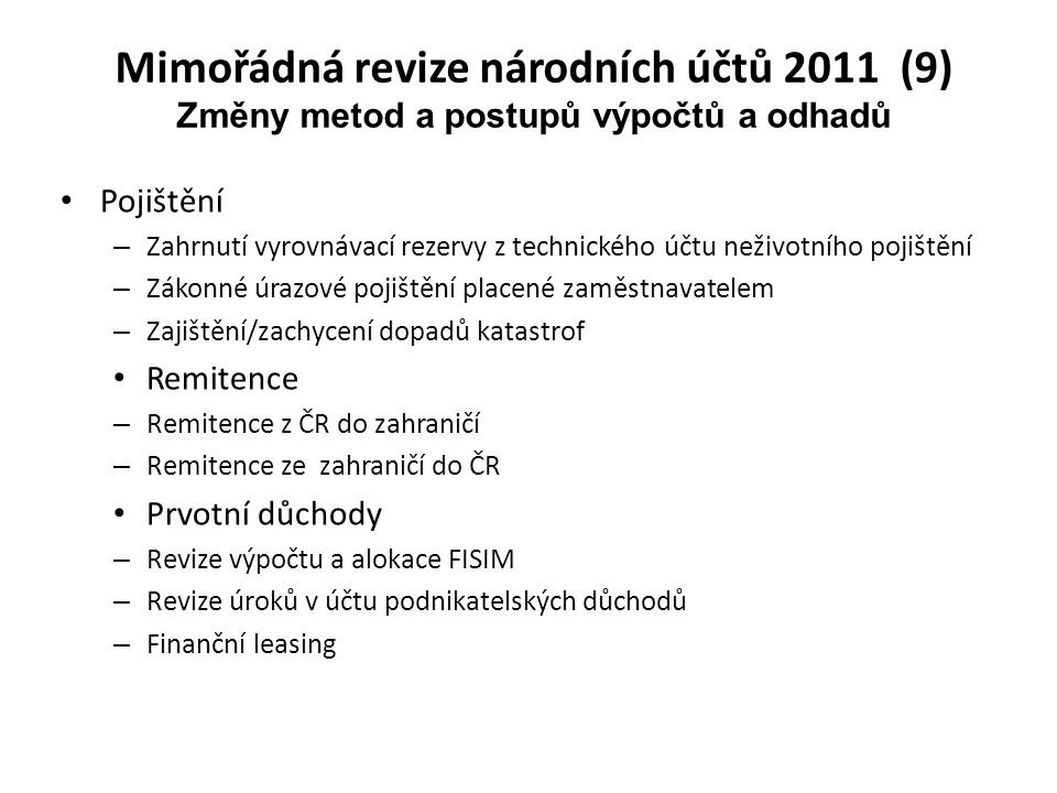 Mimořádná revize národních účtů 2011 (9)