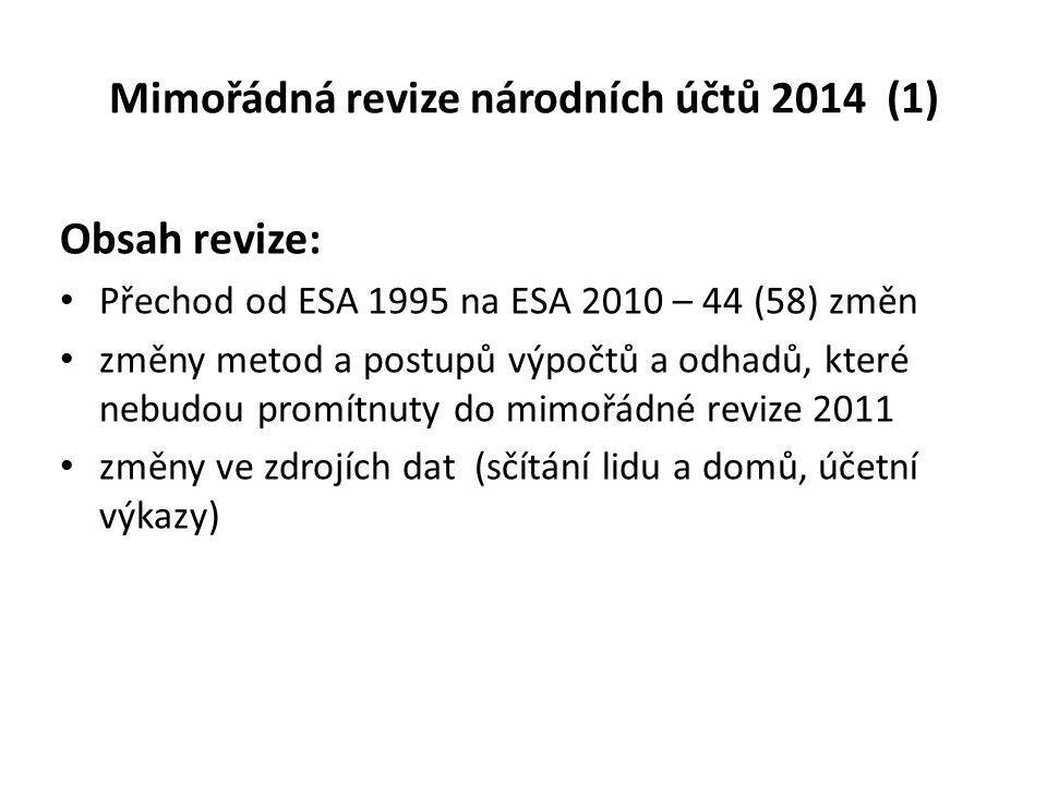 Mimořádná revize národních účtů 2014 (1)