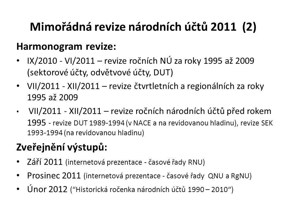 Mimořádná revize národních účtů 2011 (2)