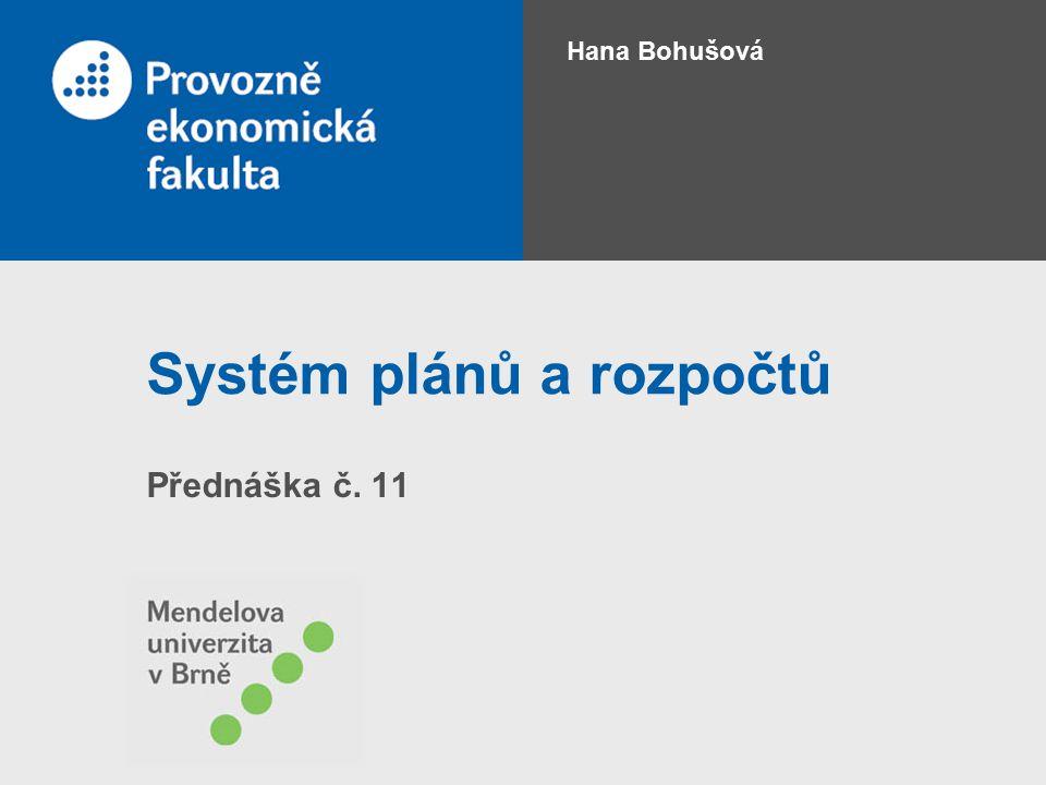Systém plánů a rozpočtů