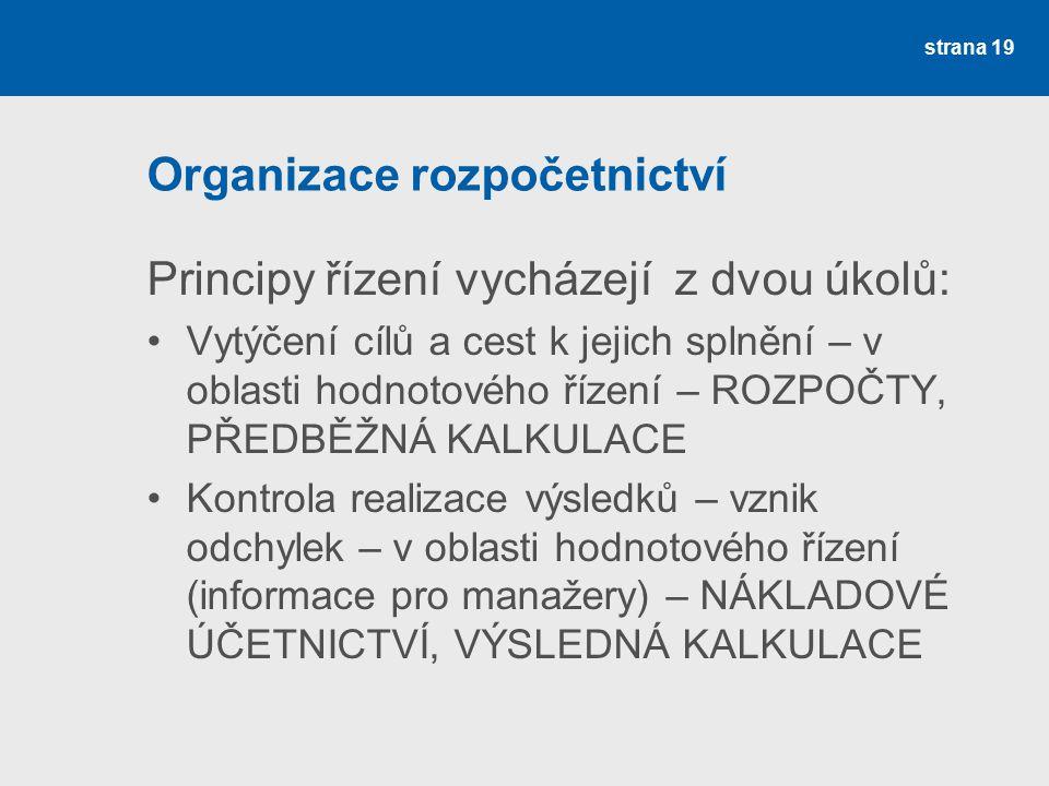 Organizace rozpočetnictví