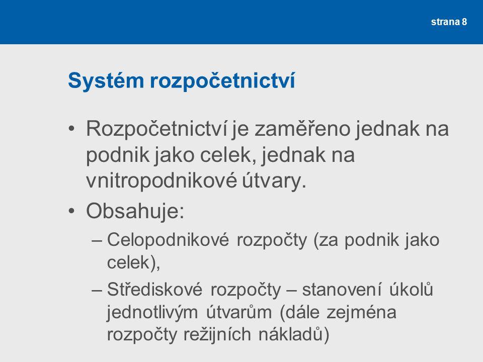 Systém rozpočetnictví