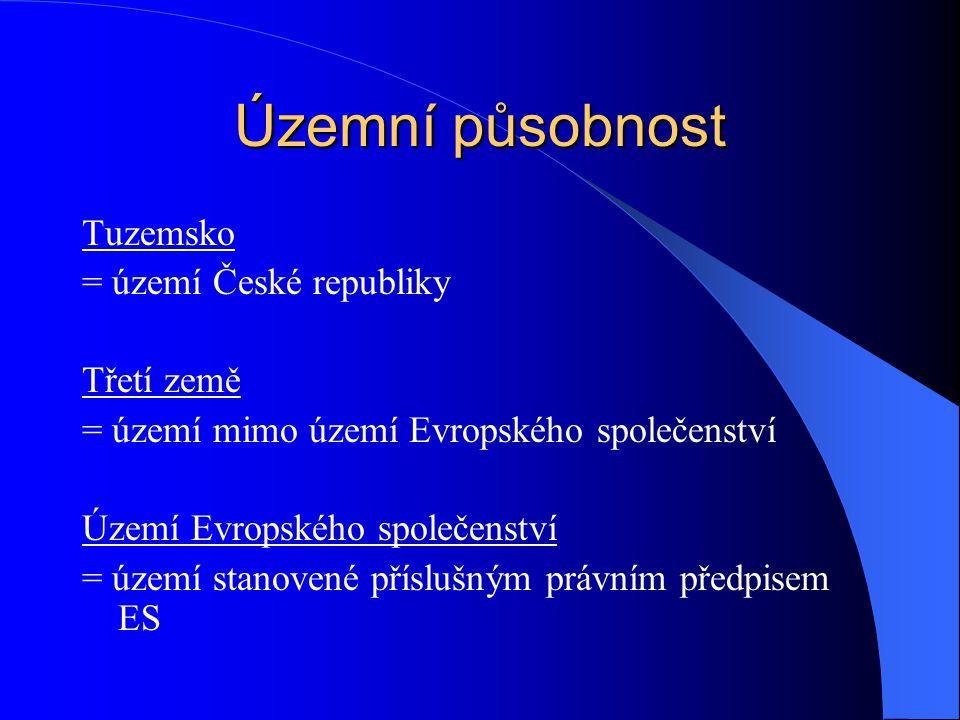 Územní působnost Tuzemsko = území České republiky Třetí země